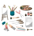 Painter icons set vector image