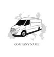 logo for transport company car icon vector image