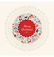 Vintage Christmas greeting card background vector image