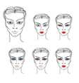 flower girl makeup vector image vector image