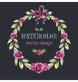 Rose Wreath Floral Trendy Design with Copy Space vector image vector image