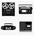 Tape recorders vector image