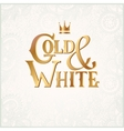 luxury inscription Gold and White with crown vector image