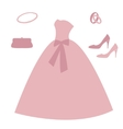 Set of wedding elements vector image