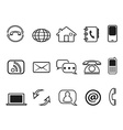 contact outline icons set vector image