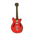 comic cartoon electric guitar vector image