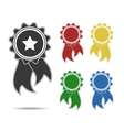 various colors rosettes vector image