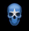 Somalian flag skull vector image