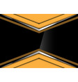 black glossy in yellow silver arrow design vector image
