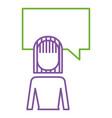 businesswoman and speak bubble talk message vector image