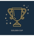 Champion trophy linear icon Golden cup logo vector image