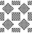 chess board icon seamless pattern on white vector image