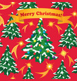 christmas greeting card happy winter holiday fir vector image