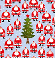 Christmas pattern Santa Claus and Christmas tree vector image