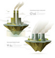 factory and power plant vector image