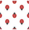 flat style seamless pattern with ladybug vector image