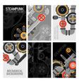 Machinery Parts Brochures Design vector image