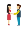man and woman holding hands style flat vector image