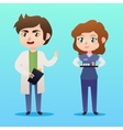 Medical staff character Young man doctor vector image