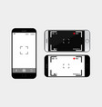mobile phone camera interface vector image
