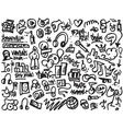 Rap doodles vector image
