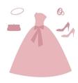 Set of wedding elements vector image