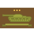 Tank Flat Icon vector image