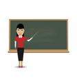 young female teacher vector image
