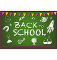Back to school theme with writing on board vector image
