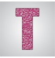 Pink sequins sings Sequins alphabet Eps 10 vector image