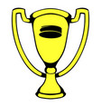 gold shiny trophy cup award icon icon cartoon vector image