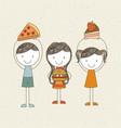 cute kid design vector image