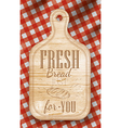 Bread cutting Light board red vector image