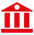 Bank flat red color icon vector image