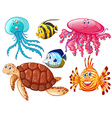 Various kind of sea animals vector image