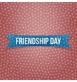 Friendship Day blue paper Ribbon vector image