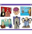 cartoon concepts and ideas set vector image