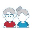 grandparents couple design vector image