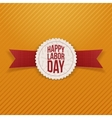 Happy Labor Day Holiday Emblem with red Ribbon vector image