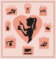 Present pink vector image
