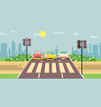 roadside cartoon landscape vector image