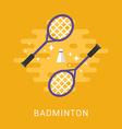 Sport Concept Badminton Flat Style vector image