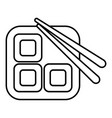 Sushi icon outline line style vector image