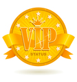 vip status icon vector image