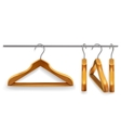 Wooden clothes hangers vector image