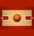 Basketball court floor top view vector image