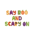 Hand drawn phrase in halloween style vector image