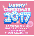 Cute light up Merry Christmas 2017 greeting card vector image vector image