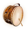 Traditional Turkish drum isolated on white vector image