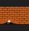 lifting the wall vector image